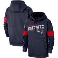 Wholesale patriot style for sale - Group buy Men New England New Style Patriot Hoodie Authentic Sweatshirt Vintage Sideline Team Performance Pullover Hoodie