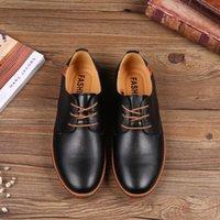 Wholesale low price dress shoes resale online - Dress Shoes Lace up Big Size Man Footwear Mens Casual Fashionable Men Office Cowmusle Sole Oxford Low Price JI10