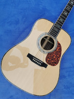 Wholesale new model guitar resale online - new Top Quality Solid Spruce Top Rosewood Back Sides Acoustic D model guitar