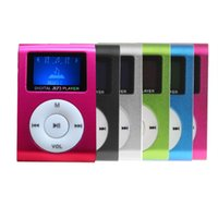mp4 spieler tf mini groihandel-Großhandel Superior-Mini-USB-Metallclip-MP3-Player LCD-Schirm-Unterstützung 32GB TF Karte Digital-MP3-Player