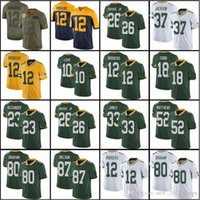 Wholesale jordy nelson jerseys resale online - 12 Aaron Rodgers Green Bays Jersey Za Darius Smith Davante Adams Packer Darnell Savage Aaron Jones Love Jordy Nelson
