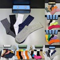 Wholesale wools mens socks for sale - Group buy 2021 Designer Mens Womens Socks Five Brand Luxe Sports Winter Mesh Letter Printed Sock Cotton Man Femal Socks With Box For Gift