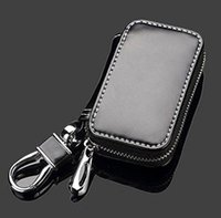 Wholesale Best Suzuki Key bag Premium Leather Volvo Car Key Chains Holder Zipper Remote Wallet Bag for Skoda key cover accessories for almost car