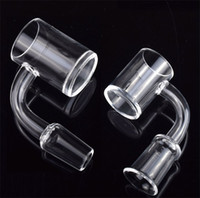 4mm Thick flat top Quartz Banger Nail 18mm 14mm 10mm Male Female polished joint flat bowl for glass bong dab rigs