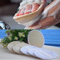 Wholesale massage supplies resale online - Natural Luffa Bath Brush Loofah Washing Pad Body Skin Care Exfoliation Massage Spa Beauty Scrubber Shower Supplies Accessories DDA688