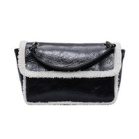 ingrosso imitazioni del sacchetto-Nuovo stile imitazione Lalambswool Catena Hobo Bag in pelle di cera One-spalla Messenger Bag di grande capienza Piccolo e Grande borsa Piazza 77.631