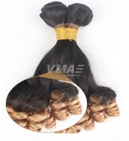 Wholesale brazilian virgin hair extentions for sale - Group buy VMAE unprocessed ombre b anuty Funmi hair bouncy curls wave Brazilian virgin human hair bundle weaves Hair extentions