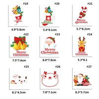 Wholesale bell can resale online - New Cute cartoon deer bell Christmas cartoon character stickers can be applied to glass refrigerator stickers switch stickers FWB2397