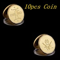 Wholesale coin counters for sale - Group buy 10pcs CS GO Counter Strike Design Gold Commemorative Games Coin Collection Commemorative Collectible Medal Coin
