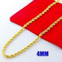 Wholesale 24k gold necklace chain men resale online - Most Popular Men S Fashion New Style Necklace k Gold Plated mm Twist Rope Chain Necklace Hot Free Ship