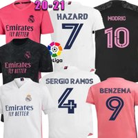 Wholesale real football fans for sale - Group buy 2021 Applicable to Real Madrid HAZARD Modric Fans Home Pink Black Goalkeeper Ramos Men soccer jersey camiseta de fútbol football shirt