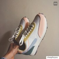 Wholesale green designer shoes for women for sale - Group buy New Daybreak White Pink purple Green Running Trainers Mens Sneakers For Women Fashion Designer Breathe Sports Shoes Jogging EUR