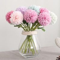 Wholesale mum flowers resale online - Silk Flower Chinese Mum Rare Perennial Flower Chrysanthemum Plant Mix Color Silk Artificial