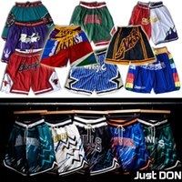 Wholesale Just don Basketball Shorts Chicago Toronto Bull Raptor Shorts Memphis Orlando Grizzlies Magic Sportwear Zipper Pockets Pacers Heat
