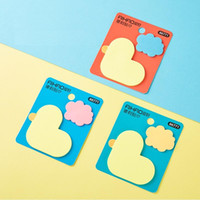 Wholesale shaped notepads resale online - 3 Yellow Duck Shaped Stickers Cartoon Color Cloud Notepad Paper Notes Self Adhesive Stationery School Supplies Fm902 bbyOcB yh_pack