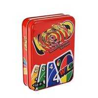 Wholesale uno game playing cards for sale - Group buy Mattel Games UNO Classic Tin Box Playing cards Party board games Entertainment game cards