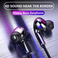 Wholesale cell phone wired headset microphone resale online - High Bass Headsets Sports Earphones Dual Drive Stereo In Ear Wired Earphone With Microphone Computer Earbuds For Cell phone