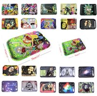 Wholesale smoke paintings for sale - Group buy DHL UPS Rolling Tray Roll Tobacco Rolling Papers Tinplate Metal Trays Size mm mm Painted tray for smoking pipes Thick Tray