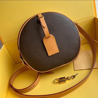 Wholesale red gold trim resale online - PETITE BOITE CHAPEAU BOITE MM PM Handbag purse cowhide trim canvas hatbox designer shoulder bags crossbody messenger Envelope bag handbag