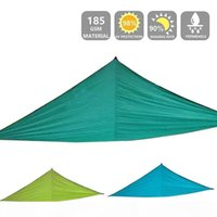 Wholesale patio shades resale online - Sun Shelter Nets Triangle Waterproof Sun Shade Sails Wning Camping Outdoor Protection Canopy Garden Patio Pool Shade