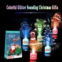 Wholesale interior ornaments resale online - Creative Music Luminous Ornaments Colorful Color Changing Acrylic Christmas Ornaments Christmas Interior Decoration Supplies GWE2266