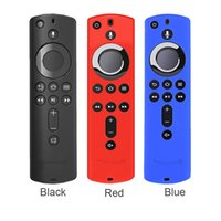 Wholesale tv remote covers cases resale online - Fire TV Stick K Remote Control Silicone Case Soft Lattice Design Durable Anti Slip Accessories Cover Protective Shockproof Cases
