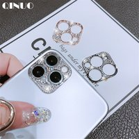 Wholesale cameras filming resale online - Diamond Camera Lens Protector Film For iPhone Pro Max Glitter crystal Len Protector Cover For iPhone11 Pro Max Glass Cover