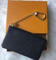KEY POUCH M62650 POCHETTE CLES Designer Fashion Womens Mens Key Ring Credit Card Holder Coin Purse Mini Wallet Bag Charm Brown Canvas