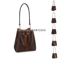 5 Colors Top Quality Fashion Bucket Bag Women Drawstring Handbags Totes Flower Printing Shoulder Bags Crossbody Purse