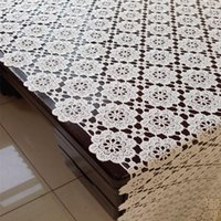 Discount tablecloths cheap Free Shipping 8001 hollow Natural Cheap PVC tablecloth Cup Mat Table Cover Table Runner water oil proof dining1
