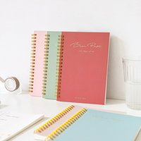 2020 Planner Kawaii 60 Sheets Coil Book Solid Color Simple B6 Diary Notebook Notepad Student Stationery Office School Supplies