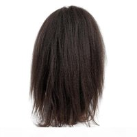 Wholesale full laces wigs resale online - Glueless Full Lace Wigs Kinky Straight Indian Hair Virgin Human Hair Lace Wig Lace Front Wigs for Black Women For Greatremy