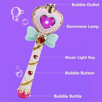 Wholesale bubbles wands for sale - Group buy Musical Light up Magic Wand Machine Blower with Bottles Bubble Solution Settings Gift for Kids Girl