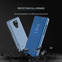 Wholesale flip power case for sale – best Luxury Smart Mirror Flip Phone Case For MOTO G9 Play G8 Power Lite Cover Leather Fixed For Motorola G9 Plus