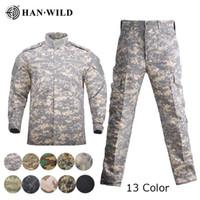 Wholesale tactical camo uniforms resale online - Men Army Uniform Tactical Suit Tactical Jacket Sets Special Forces Combat Shirt Coat Pant Set Camo Militar Soldier Clothes Color