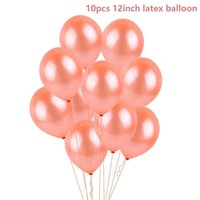 decoración estrella de oro al por mayor-Fengrise Rose Gold Heart Balloon Foil Champagne Star Balloons Wedding Party Decor Latex Ballon For Birthday Party Decorations bbyyEA