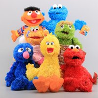 Wholesale elmo stuffed toys resale online - High Quality New Cotton Style cm Sesame Street Elmo Stuffed Plush Toy For Child Best Gifts