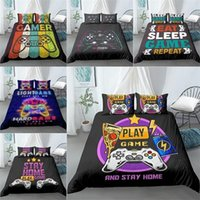 Discount video game king Gamepad Bedding Set for Boys Queen Modern Gamer Comforter Cover Video Game Duvet Cover Kids bedding Set Gamer bedding Set 201210