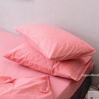Wholesale japanese casing resale online - 2PCS pillow case cm wash cotton cotton solid color pillow cover with good quality Japanese style