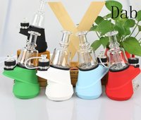 Wholesale wax glass domes for sale - Group buy glass dome vaporizer mod box mod vaping device wax e cigarette kit smart nail dab concentrates vaping mod temperature control e cig kit