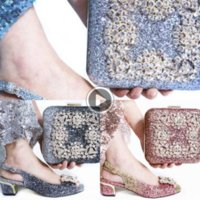 Wholesale women shoes bags sets resale online - 6N0Wj Italian Women Wedding Shoes and Bag Set with Rhinestone Women Shoes and Bags To Match Set Italy Luxury Designers KG1