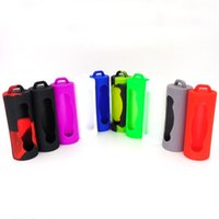 Wholesale e cigarette skins for sale - Group buy Colorful Battery Silicone Case Bag Soft Rubber Skin Protector Fit Battery E Cigarette DHL Free