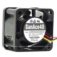 Wholesale sanyo 24v fan resale online - 109P0424H3D043 new SANYO V A three wire inverter fan x40x28mm cooling fan cooler