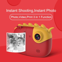 Wholesale touch toys for babies resale online - Touch screen Children Camera Christmas gift baby Instant Print Camera For Kids P HD With Thermal Photo Paper Toys For Birthday Gifts