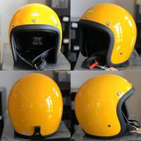Vintage High Quality Fiberglass Shell 500TX 3 4 Open Face Helmet Light Weight Japanese Style Geniune&CO Motorcycle Helmet