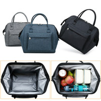 Wholesale kids girls designer totes resale online - Insulated Oxford Lunch Bag Coolbag Work Picnic Adult Kids Food Storage Lunchbox Women Ladies Girls Portable Case Thermos Tote