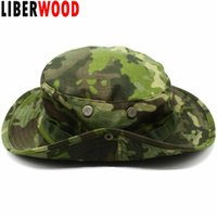 Wholesale tactical hats for men resale online - LIBERWOOD Tactical hat Boonie hat cap for Wargame Sports fishing Hunting Multicam Sniper cap Men bucket hats Sun
