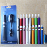 Wholesale evod vape atomizer for sale - Group buy eGo EVOD MT3 Blister Pack Starter Kit With mah mah mAH Evod Battery MT3 Vaporizer Atomizer Tank Vape Pen