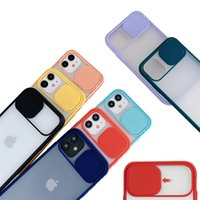 Wholesale plastic camera case for sale - Group buy Slide Camera Cover Matte Transparent CamShield Lens Protection Case for iPhone Mini Pro XS Max XR X Plus