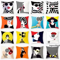 Wholesale sexy pillow covers for sale - Group buy Sexy Lady Printed Pillow Cases Decorative Ladies Print Pillow Cover Vintage Cushion Cover Sofa Chair Pillow Case